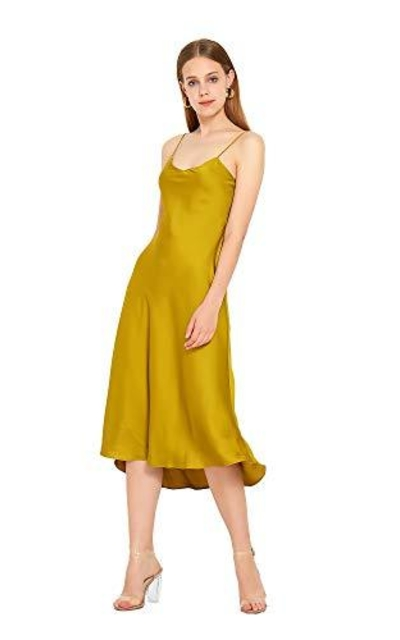 URLAZH Silk Sexy Satin Dress