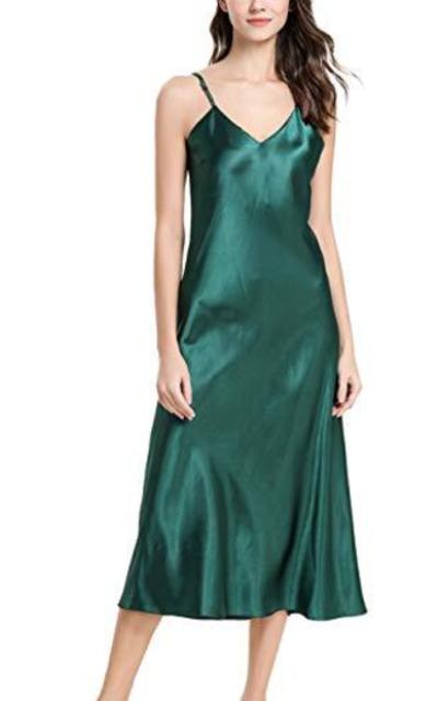 JOYMODE Satin Silk Nightdress