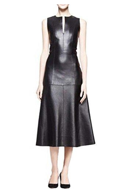 Angel&Lily A-line Faux Leather Dress