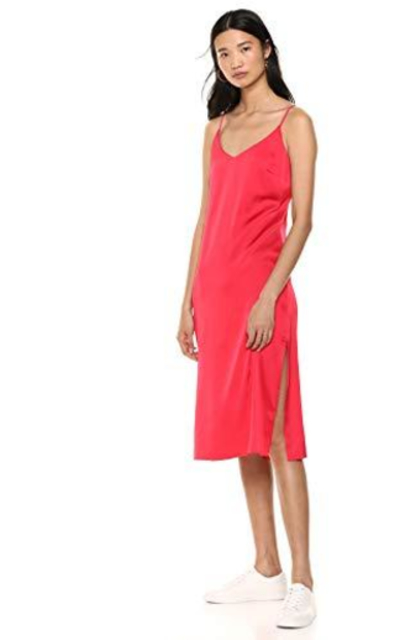 The Drop Ana Silky Midi Slip Dress
