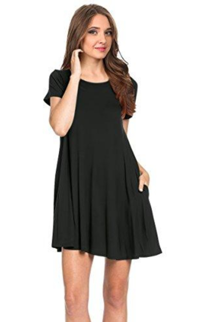 Simlu Short Sleeve T Shirt Dress
