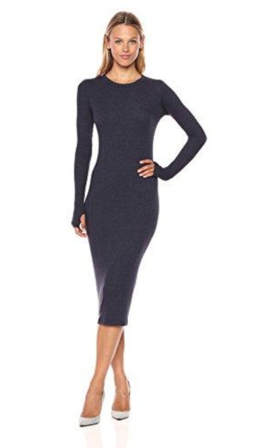 Enza Costa Rib L/s Midi Dress