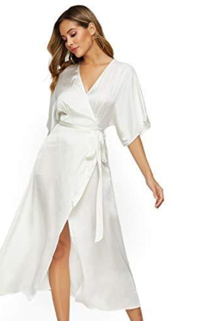 Escalier Satin Maxi Dress