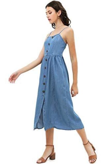 Love Tree Chambray Midi Dress