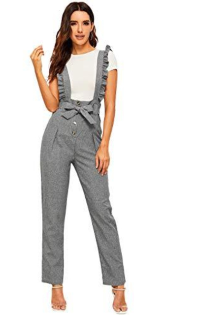 MAKEMECHIC Button Up Suspender Trousers