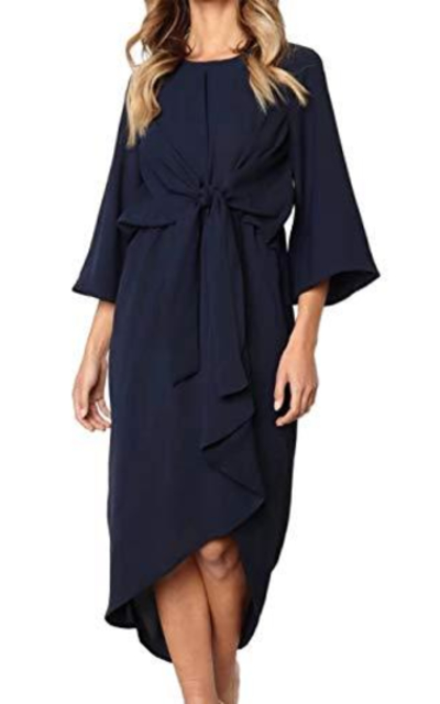 ANRABESS Tie Waist Dress