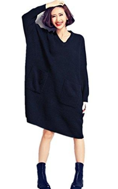 Vincy Show Oversized Knit Pullover Sweater