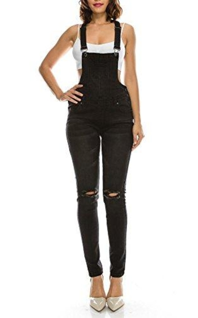 TwiinSisters Destroyed Stretch Twill Browyn Overalls