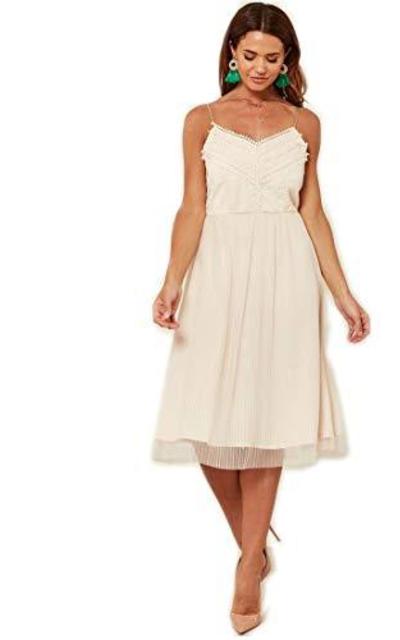 Linsis A Line Swing Lace Midi Dress