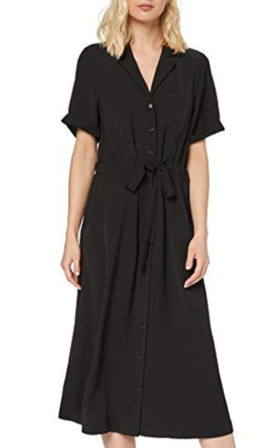 Amazon Brand - find. Midi Shirt Dress With Elastic Waist Tie Belt
