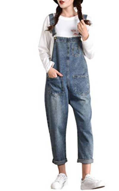 Yimoon Relaxed Fit Baggy Denim Jean Overalls