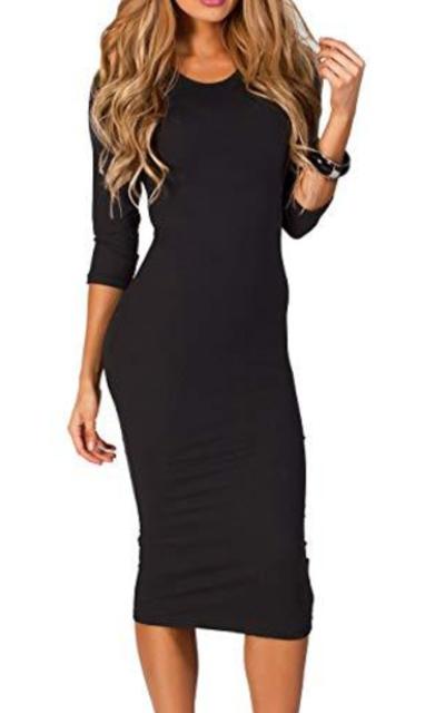 ICONOFLASH Bodycon Midi Dress