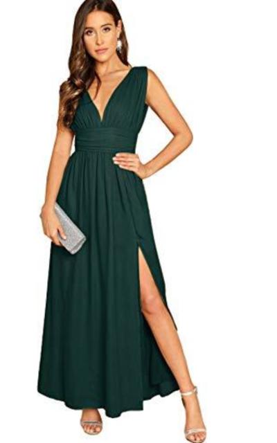 Milumia Deep V Neck Maxi Dress
