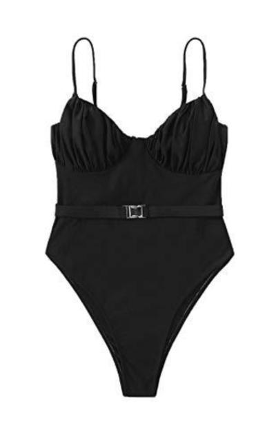 SheIn  Ruched BeltmOne-Piece Swimwear