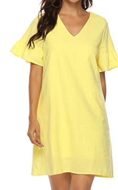 FANCYINN Ruffle Shift Dress