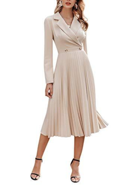 Fargeous Pleated Blazer Dress