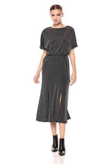Donna Morgan Metallic Knit Midi Dress