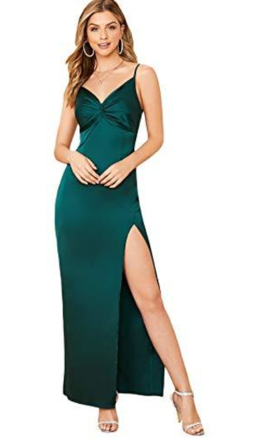 SheIn Satin Maxi Dress
