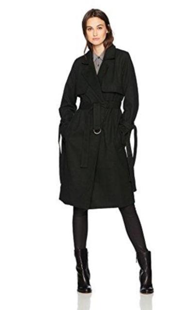 JOA Tie Sleeve Trench Coat
