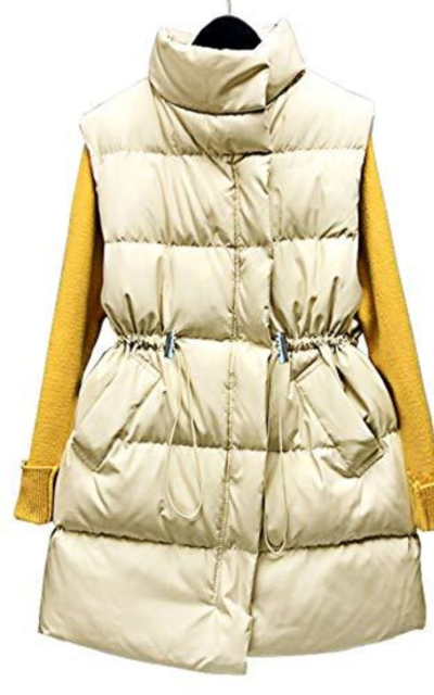 Apperloth Solid Down Vest with Side Pockets