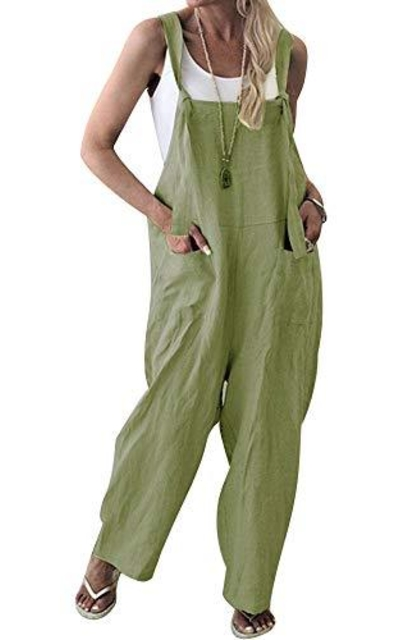 TOP-MAX  Loose Wide Leg Overalls