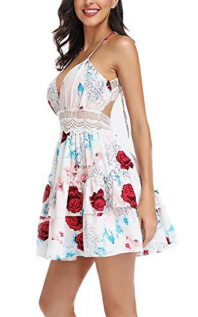 Floral Halter Mini Dress