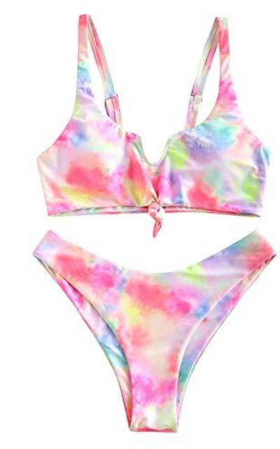 ZAFUL Tie Dye Bathing Suit