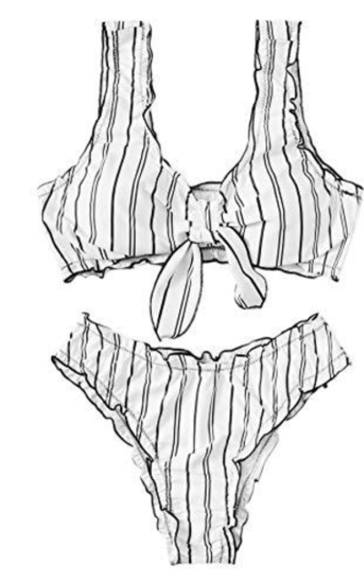 SweatyRocks Brazilian Bikini Set