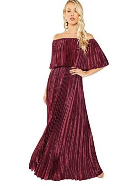 Milumia Off The Shoulder Layered Ruffle Maxi Dress