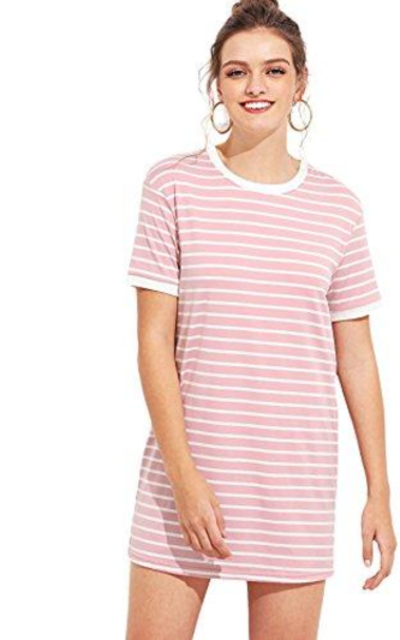 SheIn Striped T-Shirt Dress