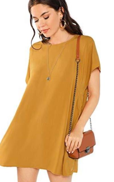 Milumia Pocket Side Round Neck Swing Dress
