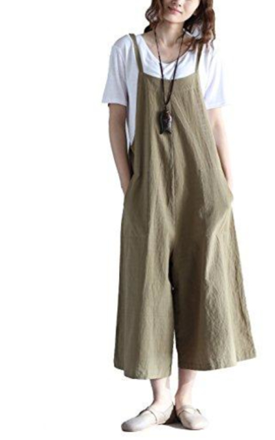 Hulaha Linen Loose Fit Overalls