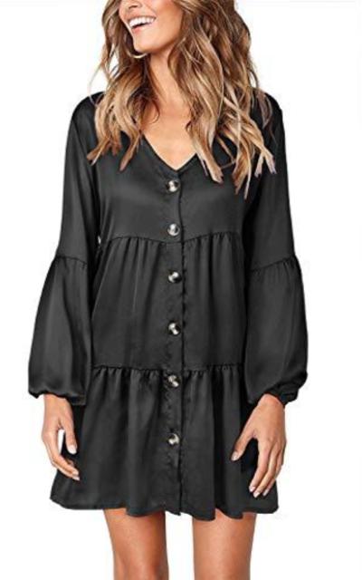 TOPUSH Button Down Dress