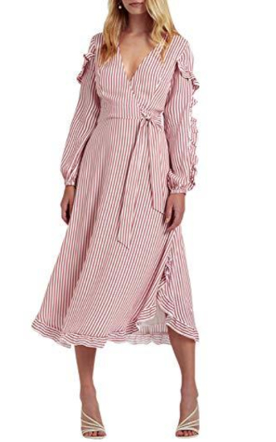 Miessial Striped Flounce Dress