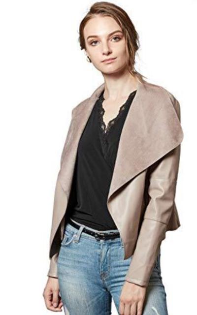Escalier  Faux Leather Jacket
