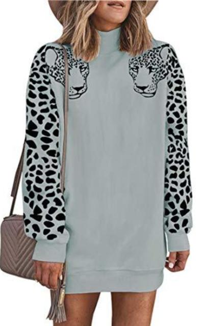 Angashion Sweatshirt Tunic Dress