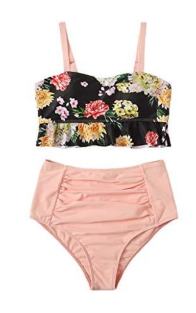 SweatyRocks High Waisted Bikini Set