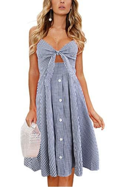 ECOWISH Summer Swing Midi Dress