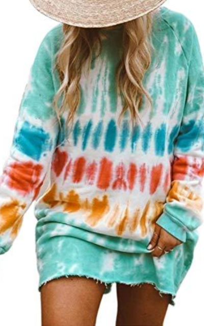 Dearlovers Tie-Dye Mini Dress
