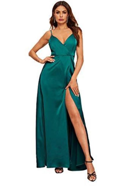 SheIn Slit Backless Maxi Dress