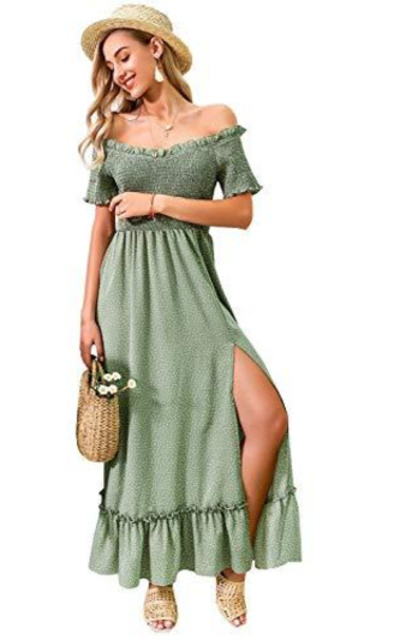 Miessial Off Shoulder Long Dress