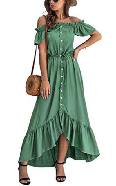 KIRUNDO Off Shoulder Maxi Dress