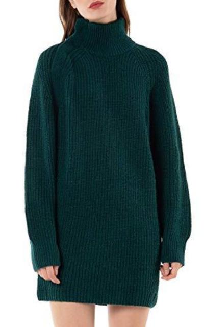 Woolen Bloom Knit Turtleneck Sweater
