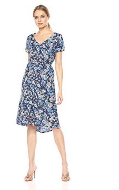 Le Mou Floral  Button Midi Dress
