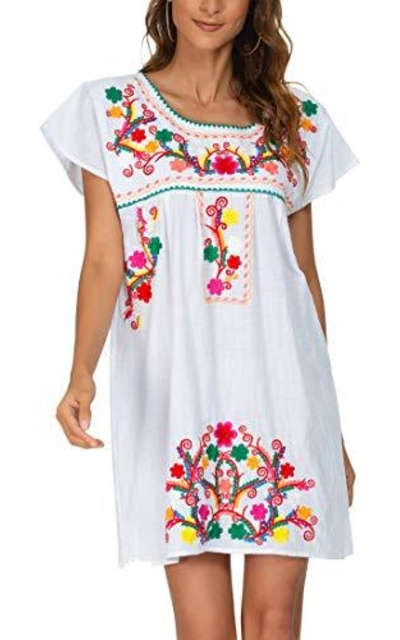 YZXDORWJ Mexican Peasant Dress