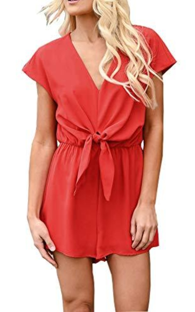 MOLFROA Tie Knot Short Rompers