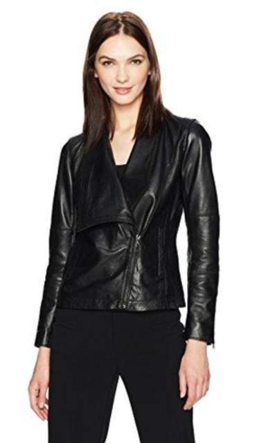 Anne Klein Asymmetrical Zip Jacket