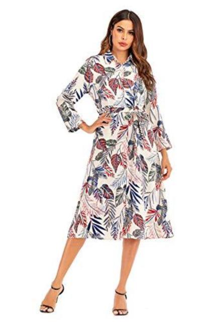 Aladuo Midi Pocket Dress with Belt