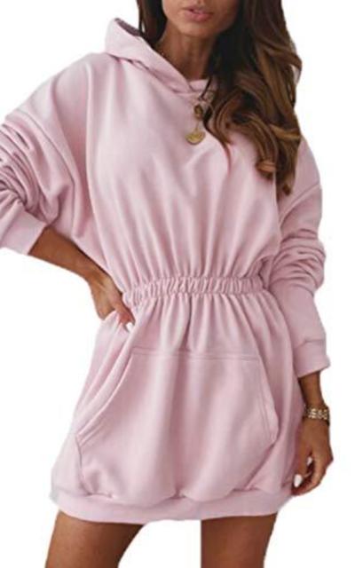 Miessial Hoodie Sweatshirt Dress