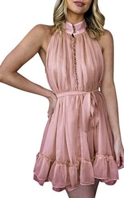 MsLure Halter Neck Dress